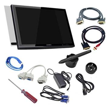 Huion 18.95″ 5080 LPI Professionelle Zeichnung Grafiktabletts PC 2048 Levels Pen-Monitor Bildschirmauflösung 1440 × 900 Kompatibel mit Apple MacBook Air Pro iMac mit DVI D VGA HDMI Kabel – GT-190 HD Cable -