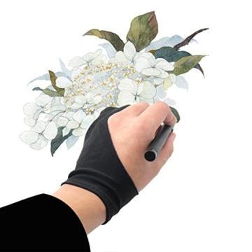 Huion® GT-220 Tablet-Monitor 21,5 Zoll Interactive Pen-Monitor Pen Display IPS-Panel HD Auflösung (1920×1080) mit Schirmschutz und schwarzem Handschuh -