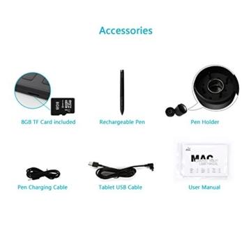 Huion® NEW 1060 PLUS Grafiktablett mit 12 Express Tasten und Integriertem Card Reader -