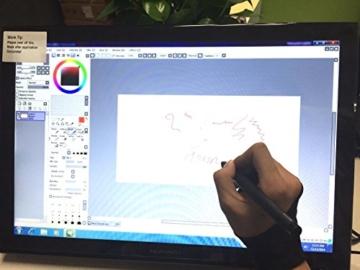 Huion Pen Display für Profis Grafikmonitor 2048 Stufen Druckempfindlichkeit 5080 LPI- Grafiktablett Zeichnung Pen Monitor GT-190 w / Handschuh und Zusätzliche Batterie Stift -