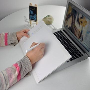 Photo-Pal Grafiktablett M708 Graphics Drawing Pen Tablet mit heißen Zellen 10 x 6 Zoll – White -