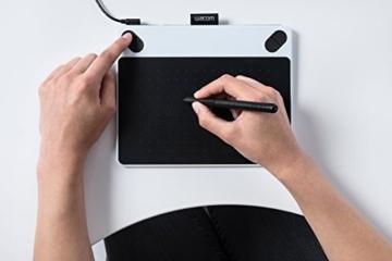 Wacom CTL-490DW-S Intuos Draw Stift-Tablett S (inklusive Softwaredownload von ArtRage Lite) weiß -